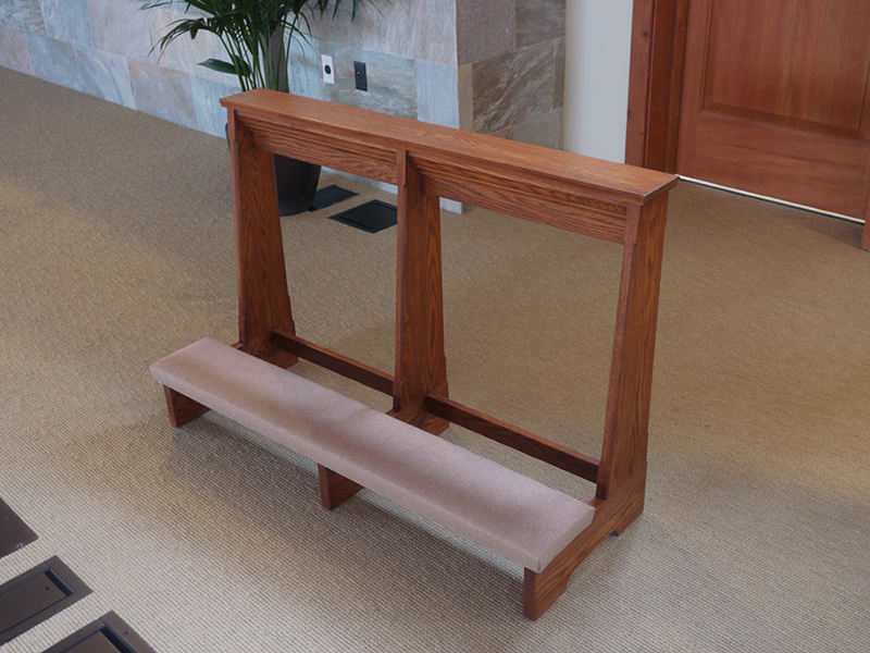 Prayer Kneeler Prie Diew Exotic Solid Mahogany Desk Images Frompo